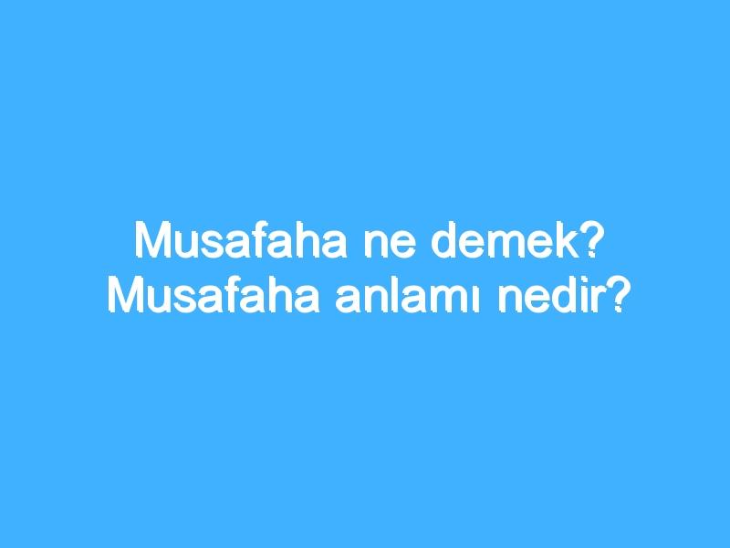 Musafaha ne demek? Musafaha anlamı nedir? | Ansiklopedi
